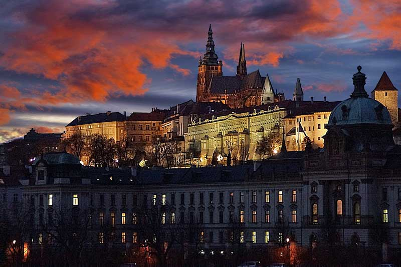 Prague Castle covers 7 hectares (18 acres) in Prague. Construction started on the castle in 870.