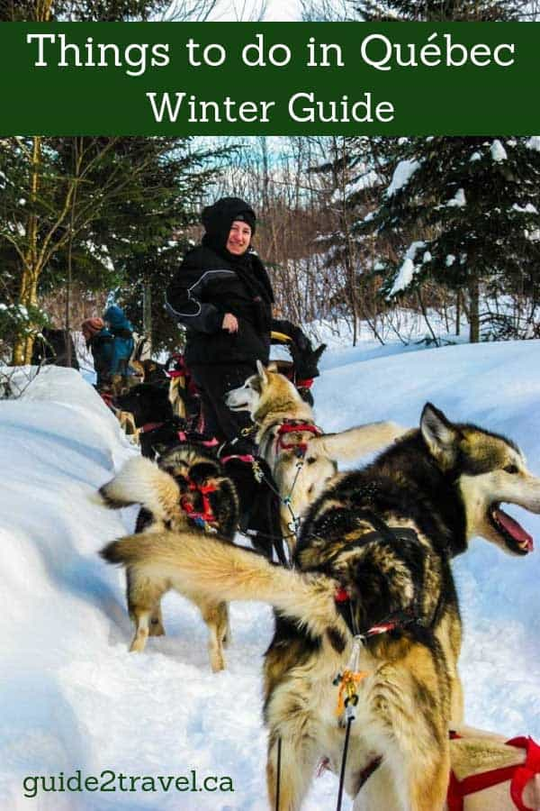 Dogsledding in Quebec, Canada.