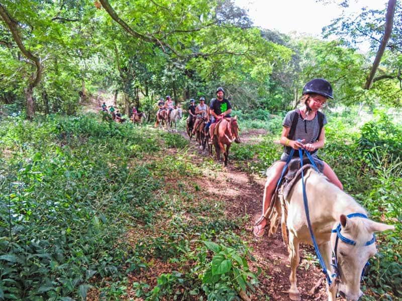 Horseback riding at Rancho Los Cacaos.