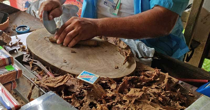 Hand making cigars in the Dominican.