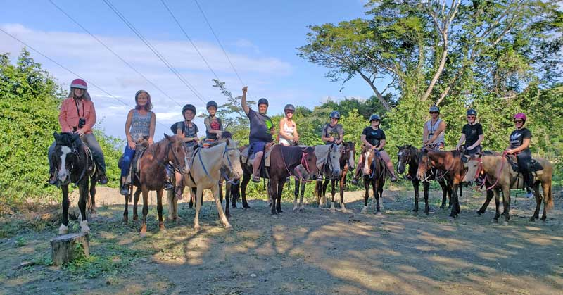 Our group riding horses at Park los Cacaos in the Dominican.