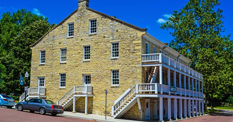 Lohman building at the Jefferson Landing State Historic Site.