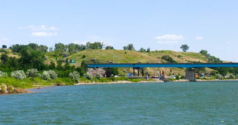 Taking the riverboat down the Missouri River in North Dakota.