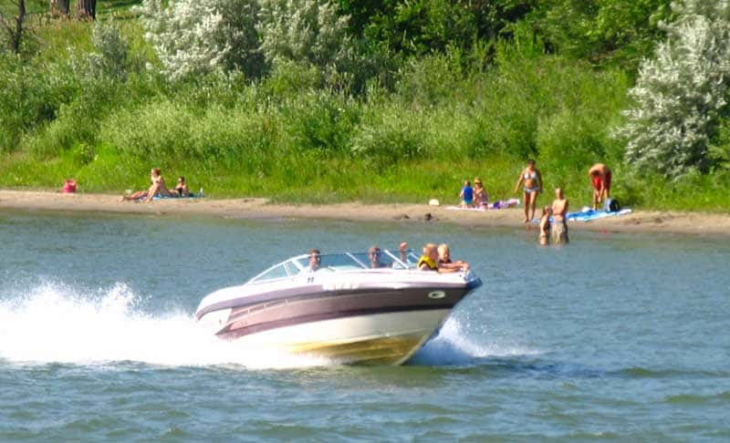 Boating on the Missouri River.