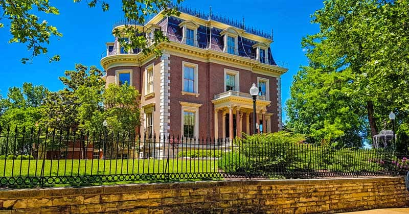 Missouri Governor's Mansion in Jefferson City, Missouri.