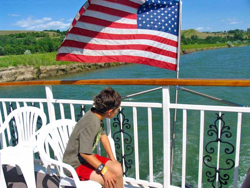Cruising on the Missouri River.