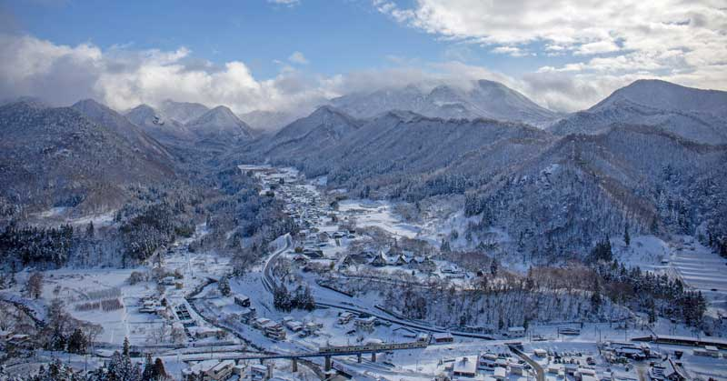 Yamagata - a picture postcard town in Japan.