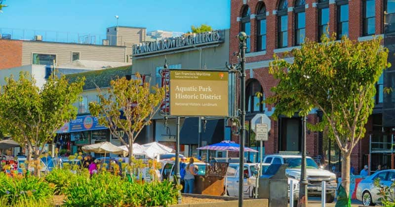 The Aquatic Park Historic District on the San Francisco Bay is just one of the beautiful historic areas you may see on a driving tour through the Bay Area.