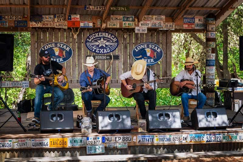 Luckenbach, Texas, country music event.