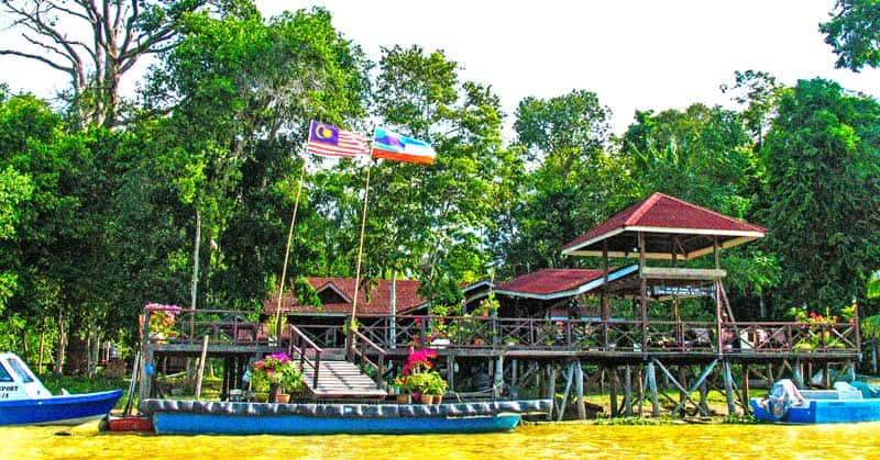 Village in the rainforest.