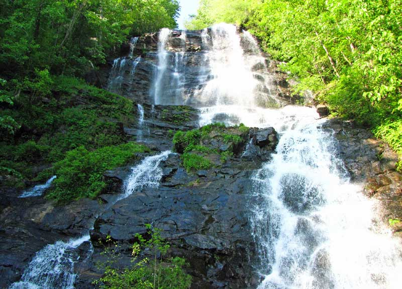 Amicalola Falls -- one of the seven natural wonders of Georgia.