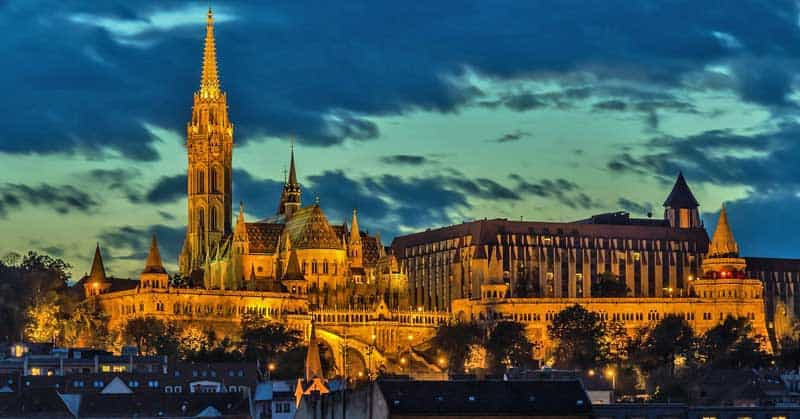 Buda Castle in Budapest, Hungary.