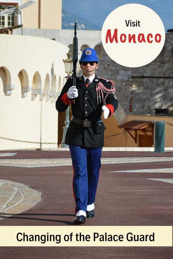 Changing of the Royal Guard at the palace in Monaco