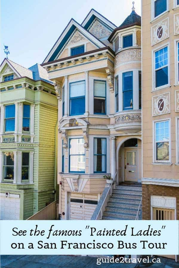 """See San Francisco's """"painted ladies"""" on your bus tour of San Francisco."""