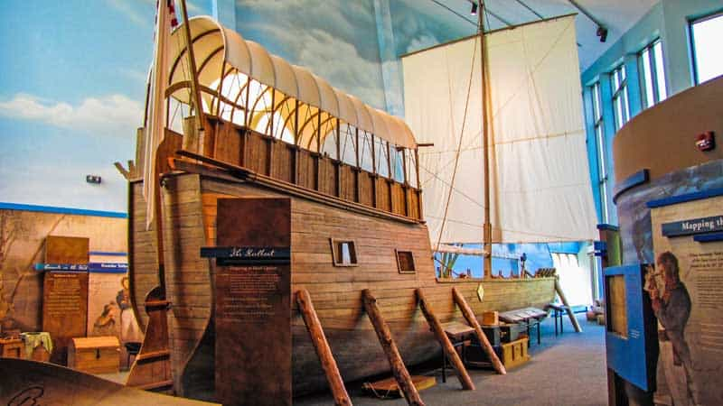 Replica of the keelboat used by Lewis & Clark on their expedition.