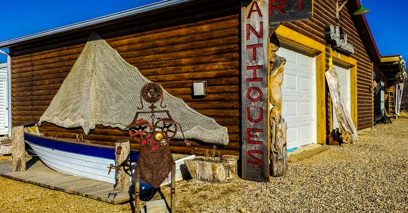 Stop at the Antique Shop on your walk around Manitou Beach.
