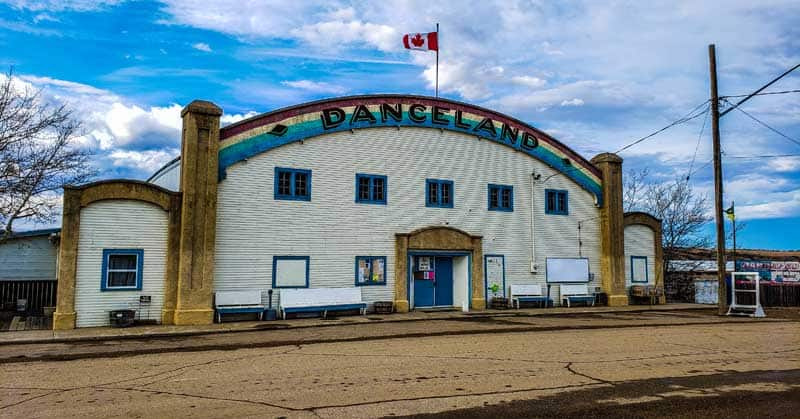 Danceland, the amazing dance hall with horse hair in the floor, in Manitou Beach, Saskatchewan.