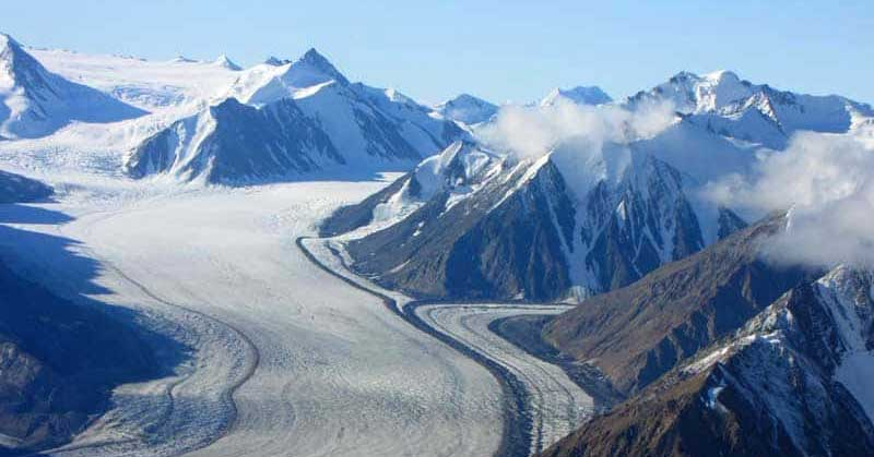 Glaciers of Kluane in the Yukon.