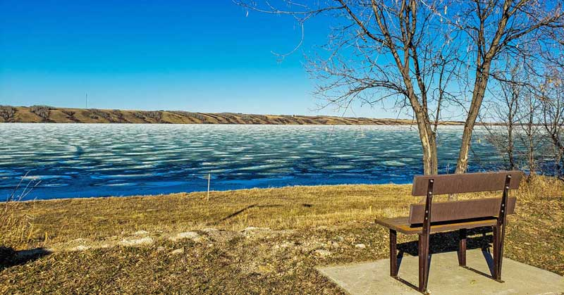 Little Manitou Lake - Canada's Dead Sea - in Saskatchewan.