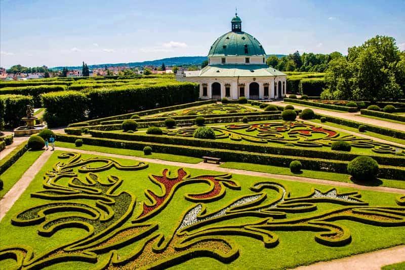 Flower gardens in Kromeriz, Czech Republic