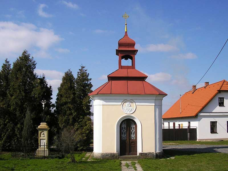 Village chapel in Holešovice, municipality of Chroustovice, Chrudim District, Pardubice Region, the Czech Republic.
