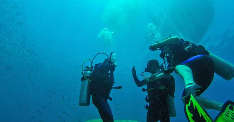 Scuba diving in Mexico.