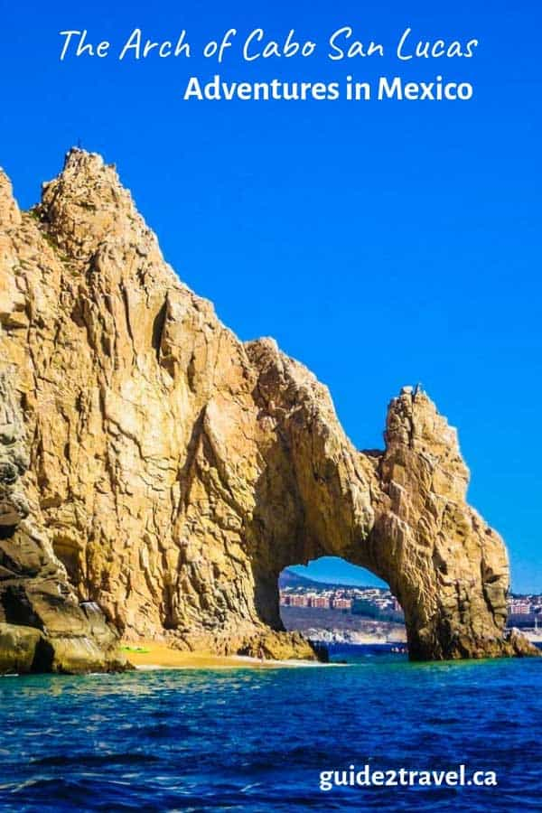 The arch of Cabo San Lucas in Mexico.