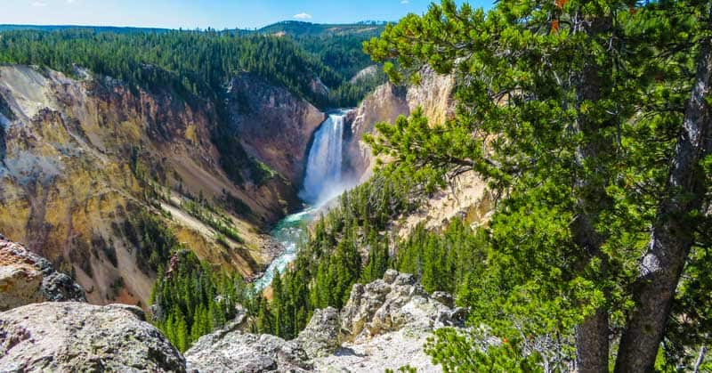 Grand Canyon of the Yellowstone in Yellowstone National Park.