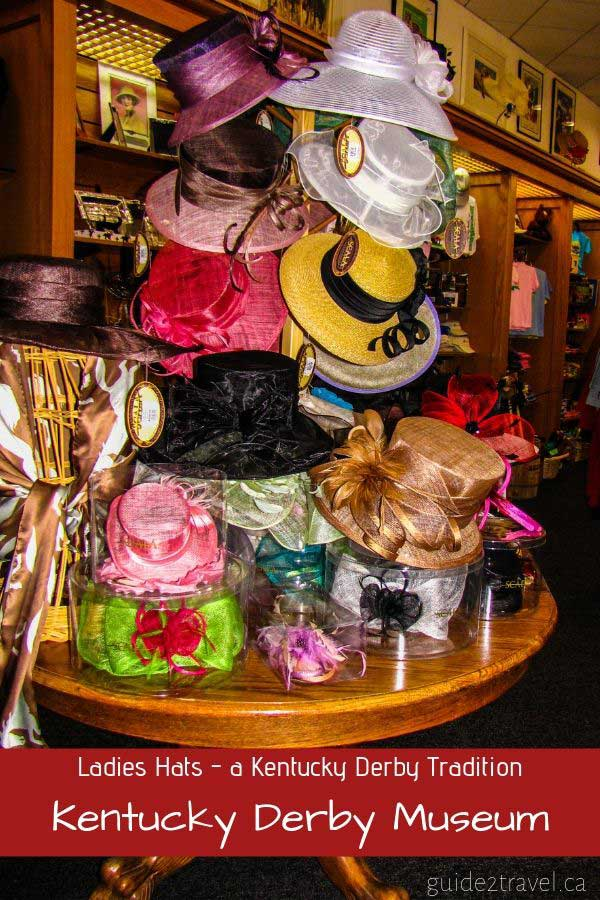 Ladies hats are a tradition at the Kentucky Derby!