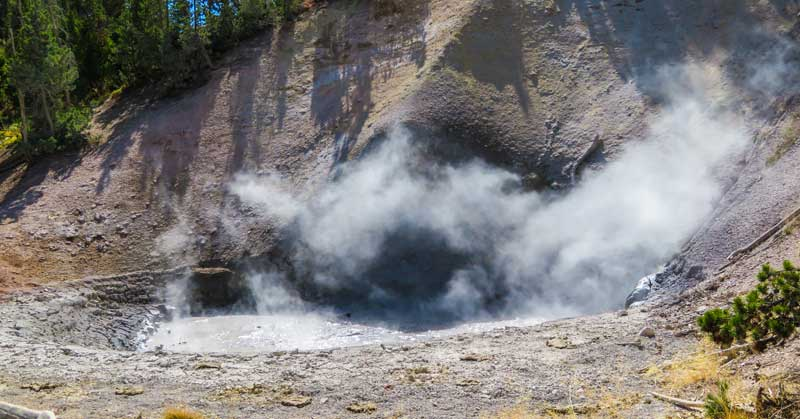 Mud volcano in Yellowstone National Park.