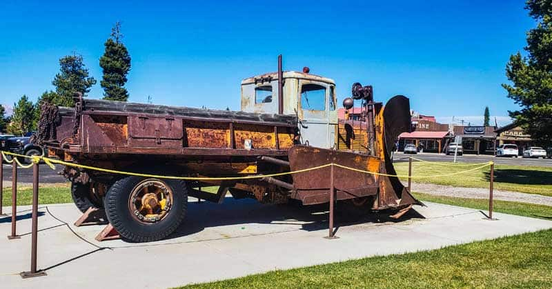 Snow plow at the Yellowstone Historic Center Museum in West Yellowstone.
