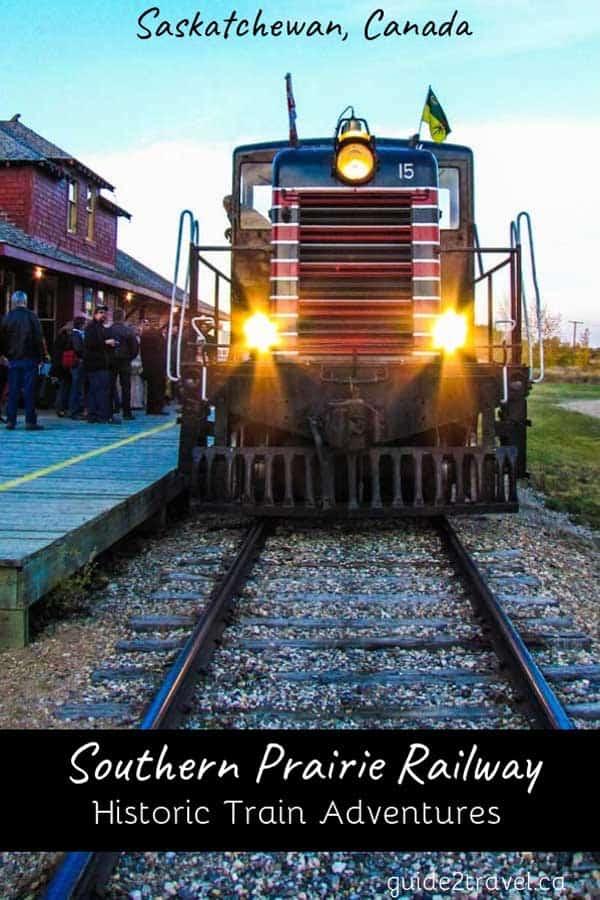 Take an historic train adventure on the Southern Prairie Railway.