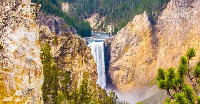 Upper Falls of the Grand Canyon in Yellowstone National Park.