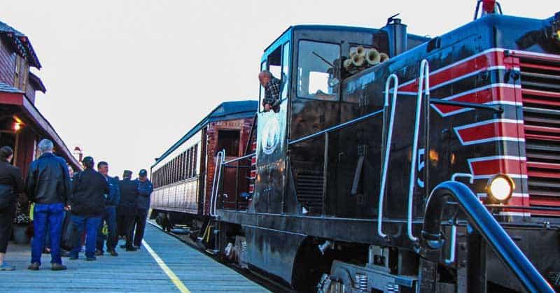 1945 diesel locomotive, GE 44 Toner, owned and operated by the Southern Prairie Railway in Ogema, Saskatchewan.