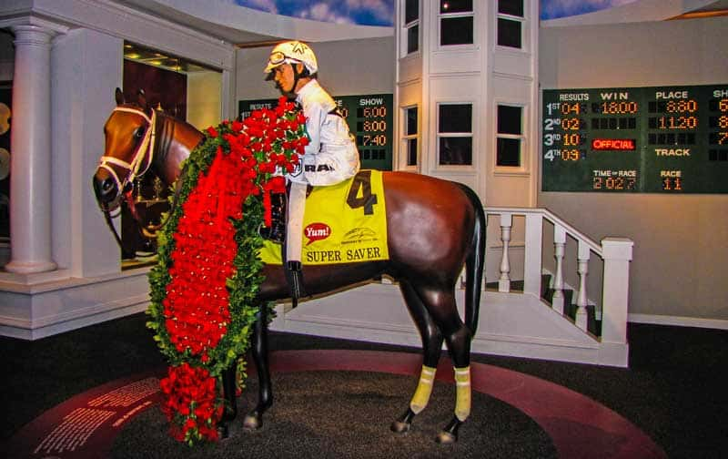 Winner's Circle exhibit at the Kentucky Derby Museum in Louisville, Kentucky.