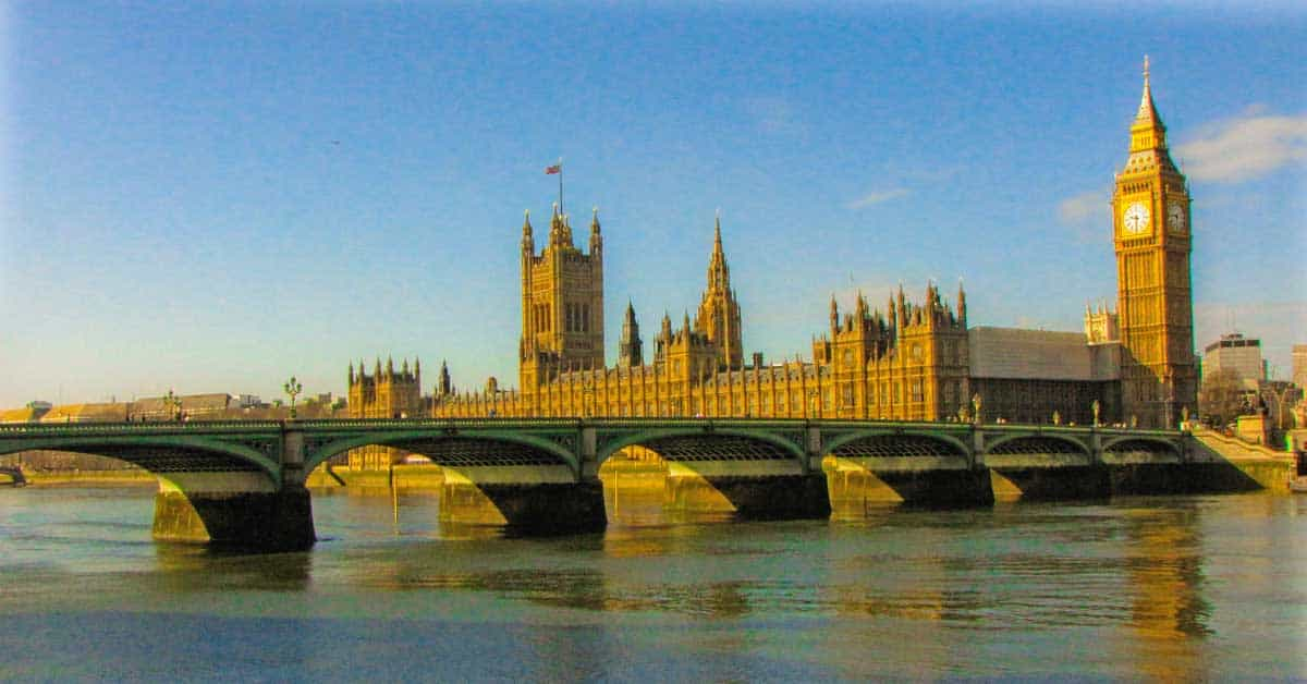 UK Parliament, Big Ben, and Westminster Bridge.