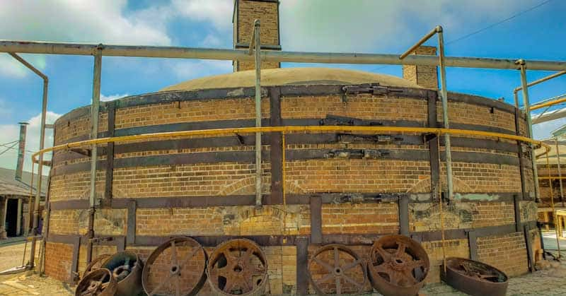 Exterior of a kiln at Claybank Brick Plant.