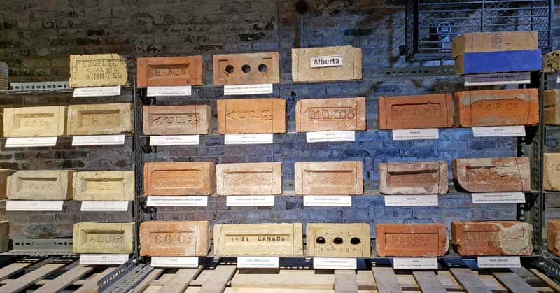 Bricks of different colors are produced by the different types of clay.