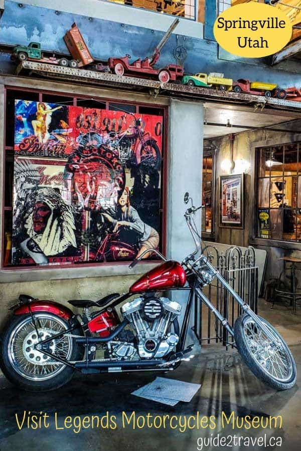 Visit Legends Motorcycles Museum in Springville, Utah.