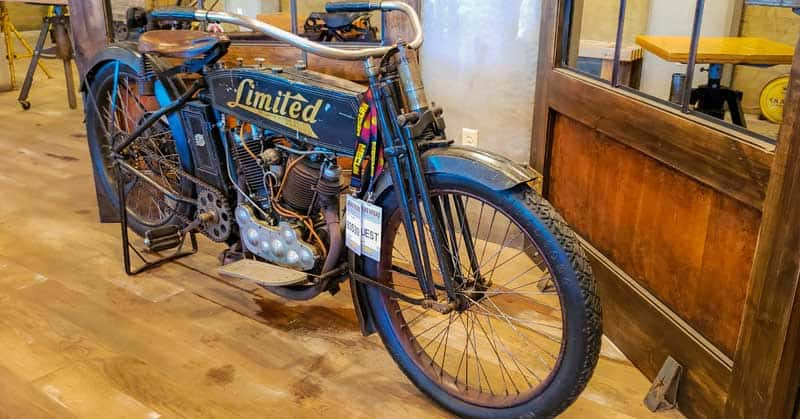 Rare Feilbach Limited motorcycle at Legends Motorcycles Museum in Utah.