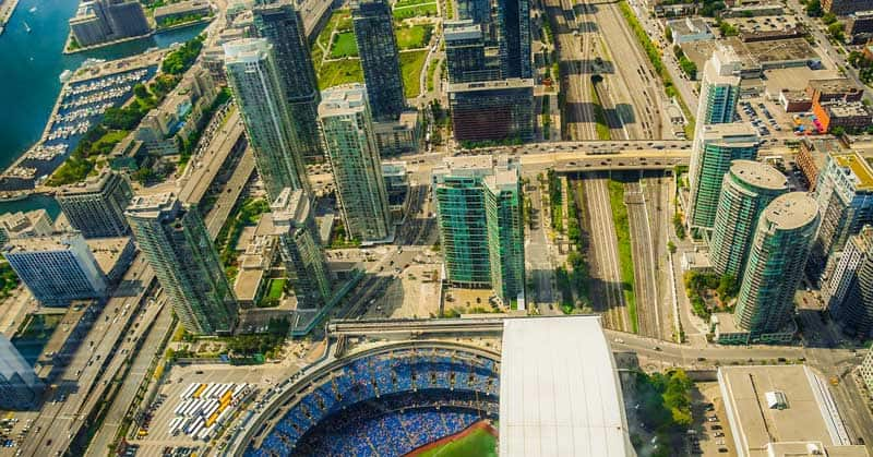 View from the CN Tower.