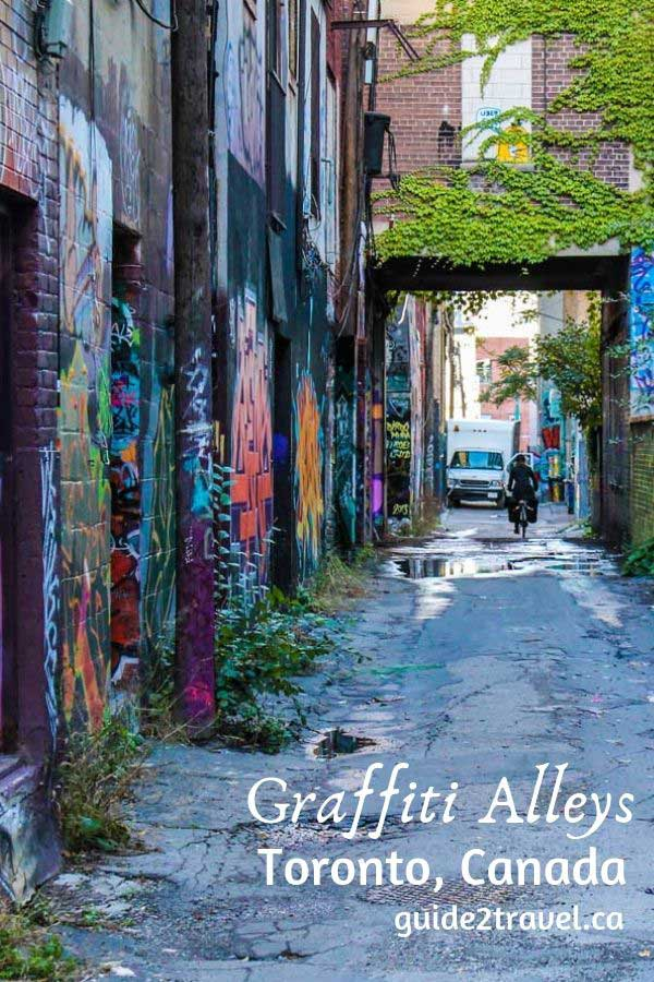 See the graffiti alleys in Toronto, Ontario, Canada.