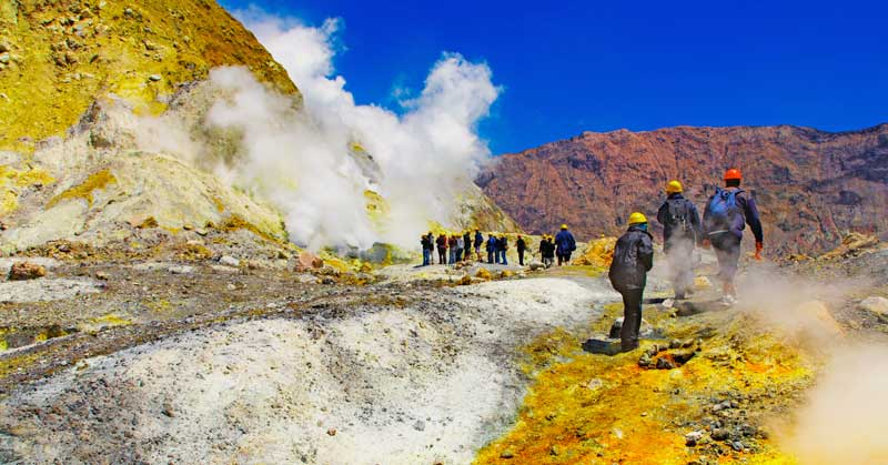 New Zealand travel ideas - get Inside the active volcanic crater, White Island volcano, New Zealand — Photo by muha04