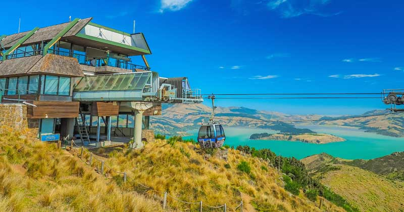 New Zealand travel ideas - Christchurch Gondola and the Lyttelton port from Port Hills in New Zealand. — Photo by RobertCHG