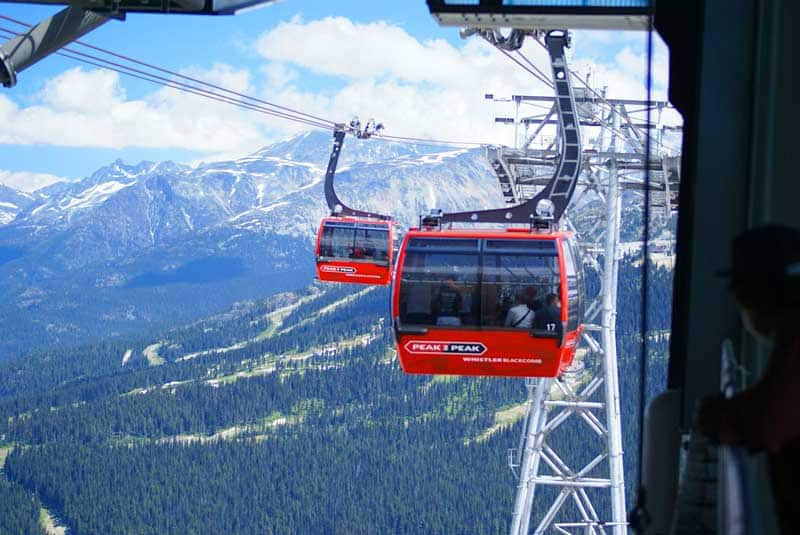 Peak-to-Peak gondola in Whistler, BC.