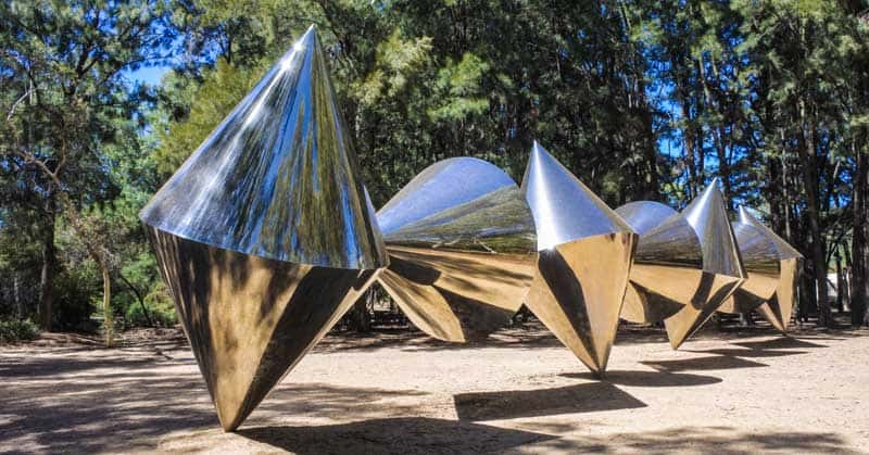 An outdoor sculpture outside the National Gallery of Australia in Canberra Australia Capital Territory. It's the national art museum of Australia, holding more than 166,000 works of art. — Photo by lucidwaters