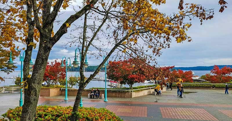 Pioneer Waterfront Plaza in Nanaimo, British Columbia.