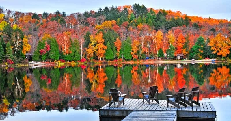 Relax in the Muskoka area of Ontario this fall.