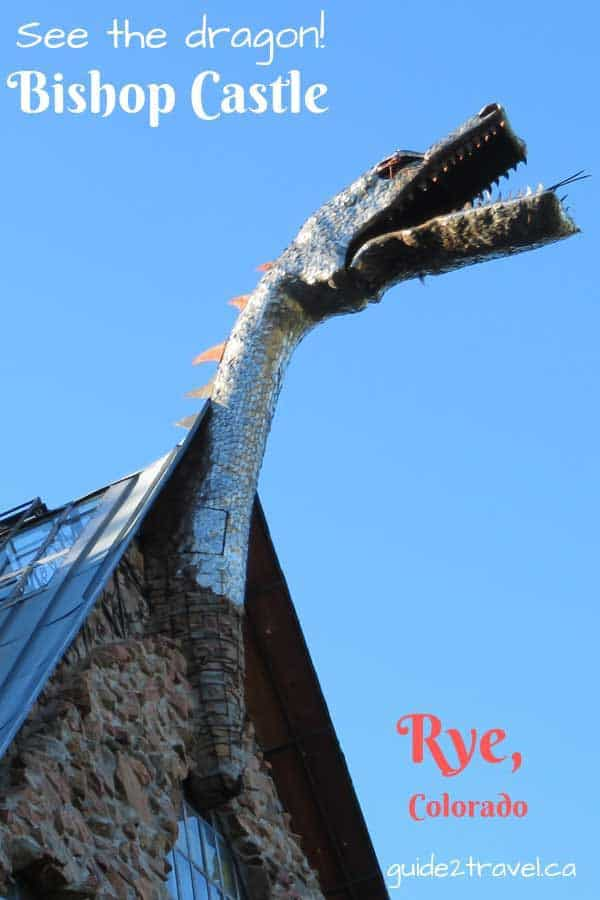 The dragon on Bishop Castle near Rye, Colorado