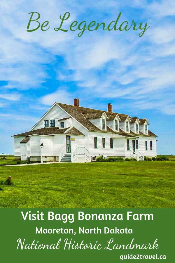 Main house on the Bagg Bonanza Farm in Mooreton, ND.